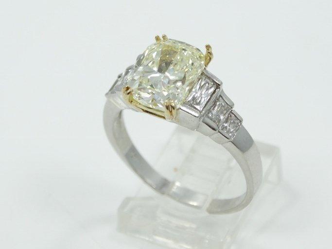 4.20CT VS2-SI1 Genuine Fancy Yellow Diamond Cushion-Cut