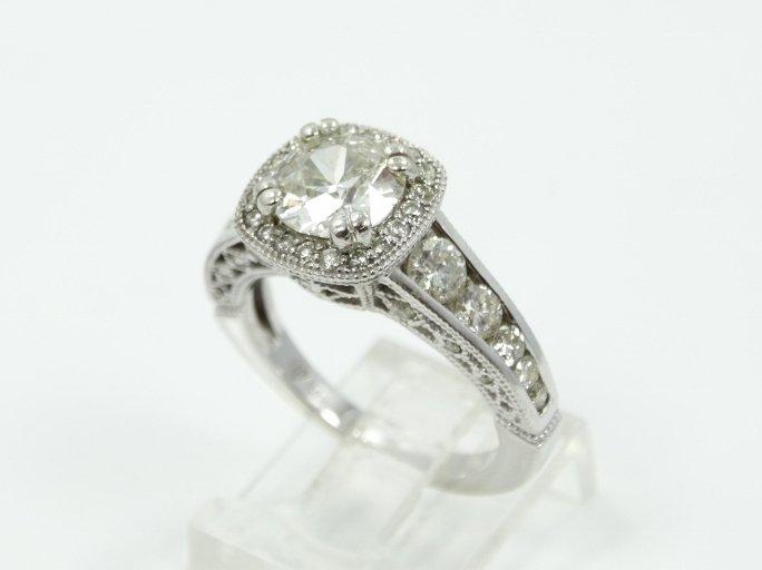 3.00CTW Genuine SI1/H-J Old European Cut Diamond Ring