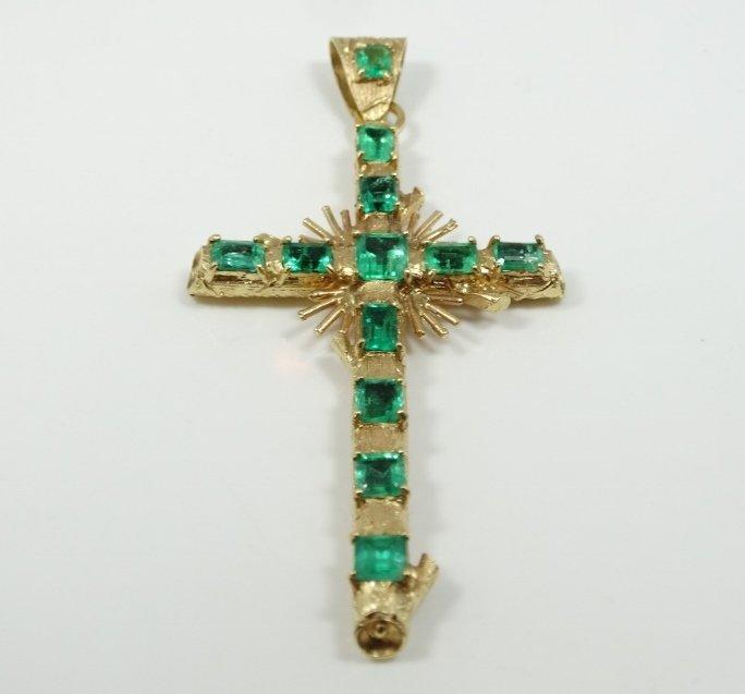 "12.00CTW Genuine Near Flawless Columbian Emerald 3"""