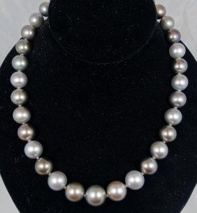 Vintage Graduated 11mm-14mm Multi-colored Genuine Pearl