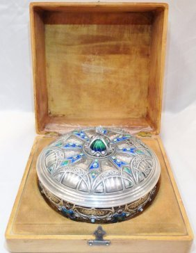 Antique Karl Faberge Russian Solid 88 Silver Handmade