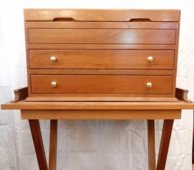Milton Berle Personally Owned Walnut Three Drawer