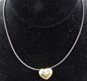 Designer Milor Solid 14k Yellow & White Gold Heart