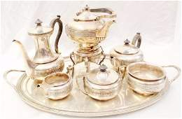 1800s Tiffany  Co Sterling Silver Tea Service Set