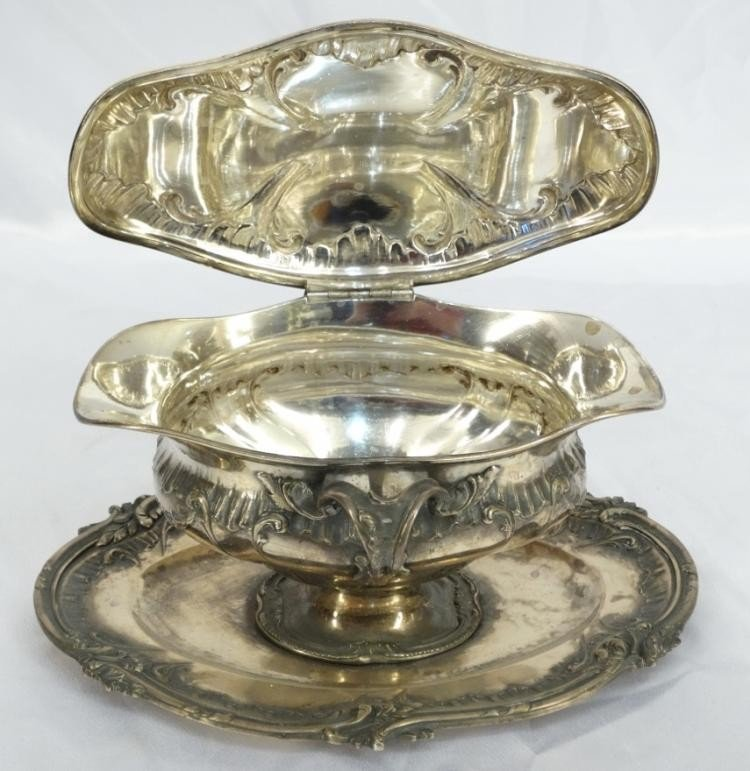 Rare 19th C. French Sterling Silver Gravy Boat - 2