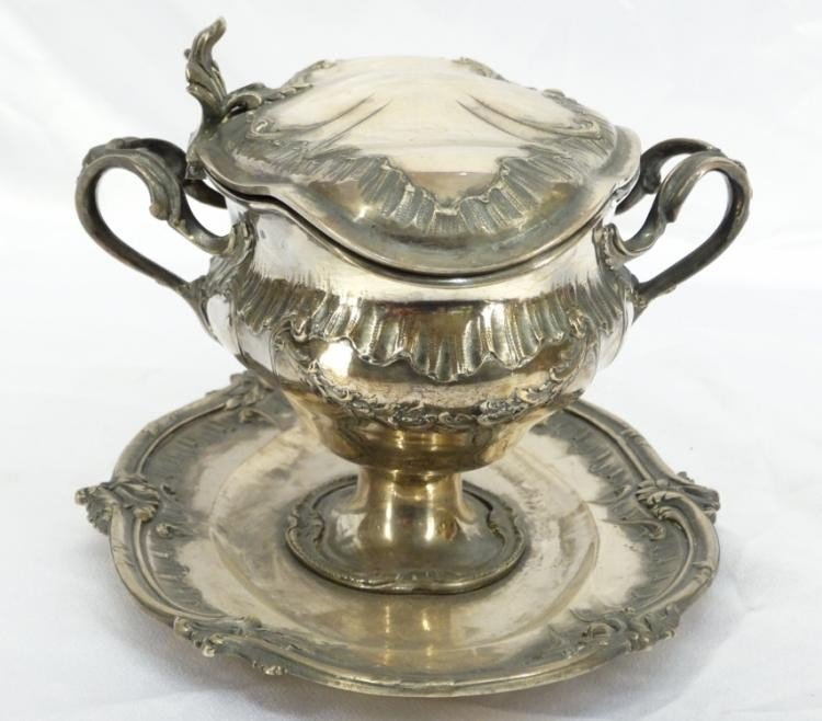 Rare 19th C. French Sterling Silver Gravy Boat - 5