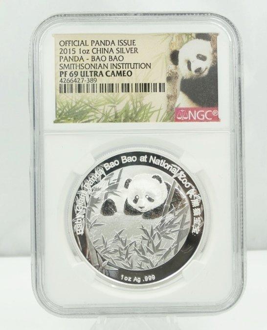 2015 China 1 Oz. Silver Panda Bao Bao PF69 UC NGC