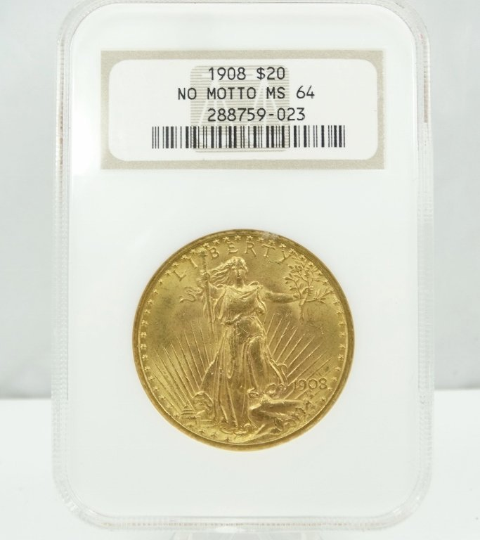 1908-P Saint Gaudens Double Eagle MS64 No Motto