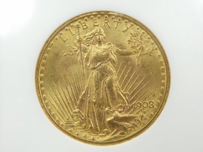 1908-P Saint Gaudens Double Eagle MS64 No Motto - 2