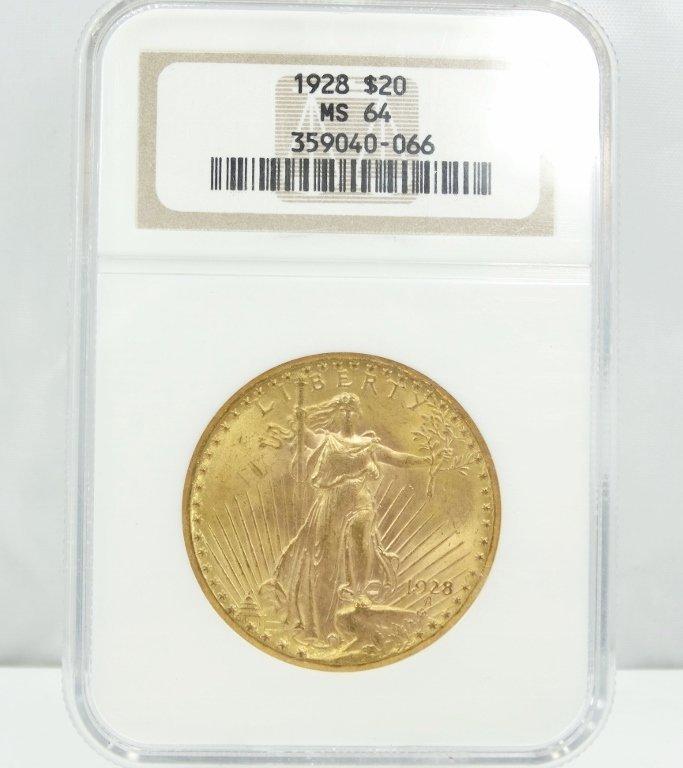 1928-P Saint Gaudens Double Eagle MS64 NGC