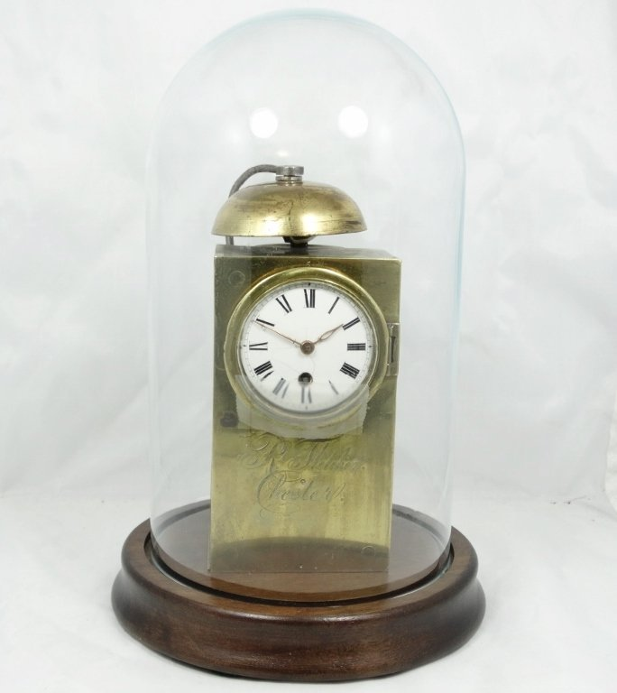 Rare Robert Fletcher Brass Carriage Clock Signed