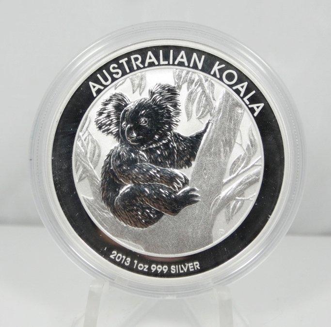 2013 Aus. 1 Oz. Silver Koala $1 BU Mint Capsule