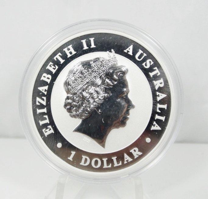 2013 Aus. 1 Oz. Silver Koala $1 BU Mint Capsule - 2