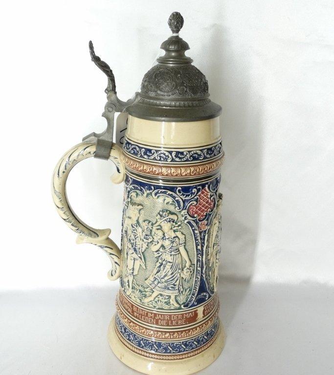 Late 1800's Reinhold Merkelback 2L Beer Stein