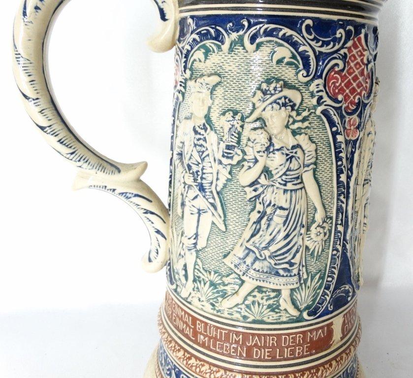Late 1800's Reinhold Merkelback 2L Beer Stein - 2