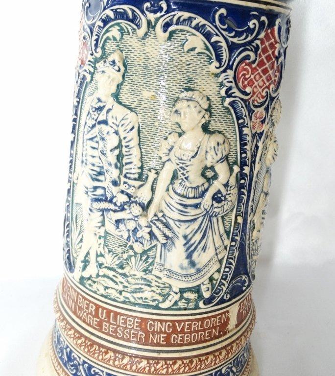 Late 1800's Reinhold Merkelback 2L Beer Stein - 4