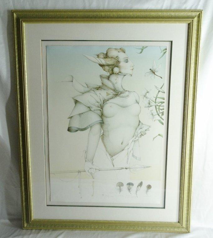 "Michael Parkes ""Stalking"" Ltd Ed Stone Lithograph"