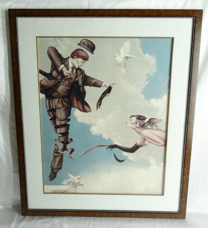 "Michael Parkes ""Unwinding"" Framed Art Print"