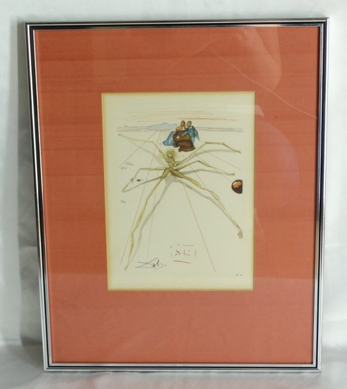 "Salvador Dali ""Arachne-Purgatory 17"" AP Lithograph"
