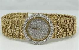 Bueche Girod 18K Watch w/2.10CTW Diam. Bezel/Dial