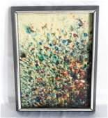 Original Abstract Oil Painting on Canvas Board