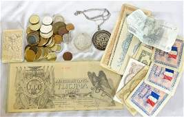 Unsearched Foreign Coins & Money