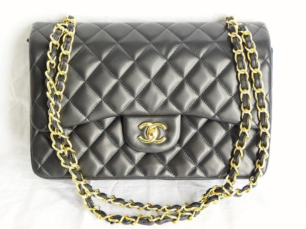 Chanel Jumbo Lambskin Tuffted Evening Bag