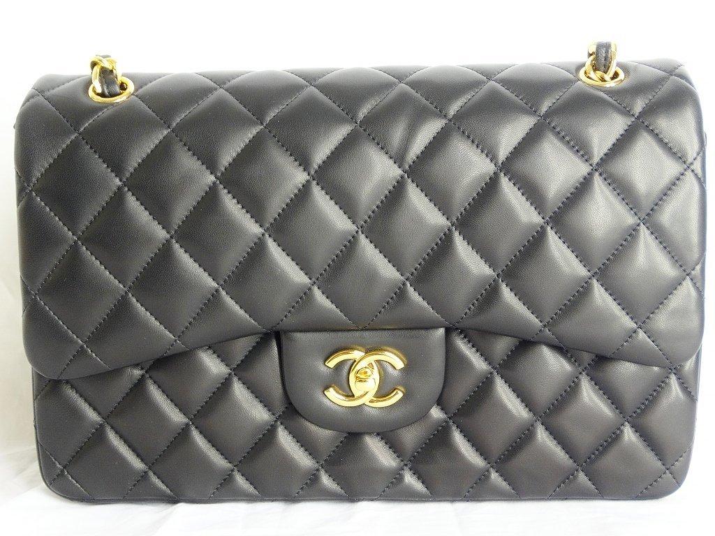 Chanel Jumbo Lambskin Tuffted Evening Bag - 2