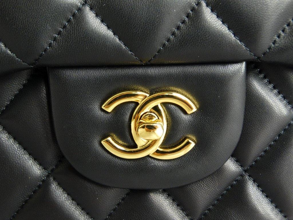 Chanel Jumbo Lambskin Tuffted Evening Bag - 3