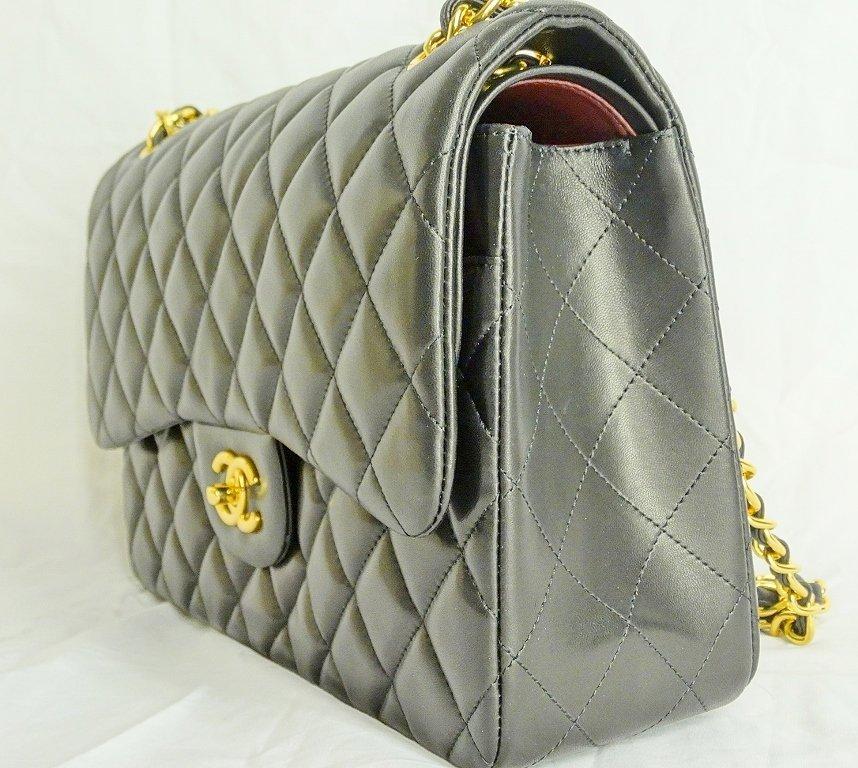 Chanel Jumbo Lambskin Tuffted Evening Bag - 4