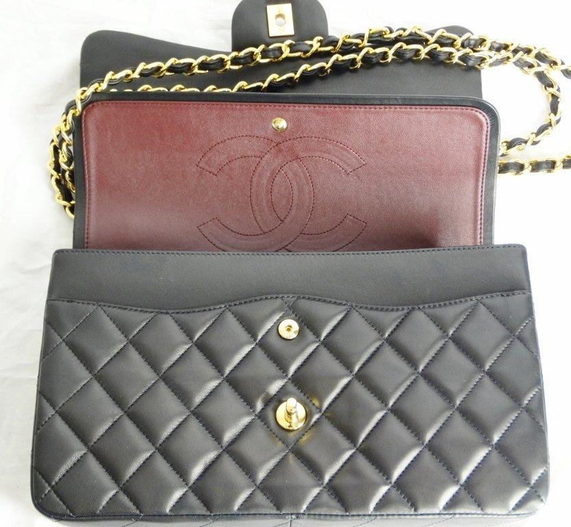 Chanel Jumbo Lambskin Tuffted Evening Bag - 6