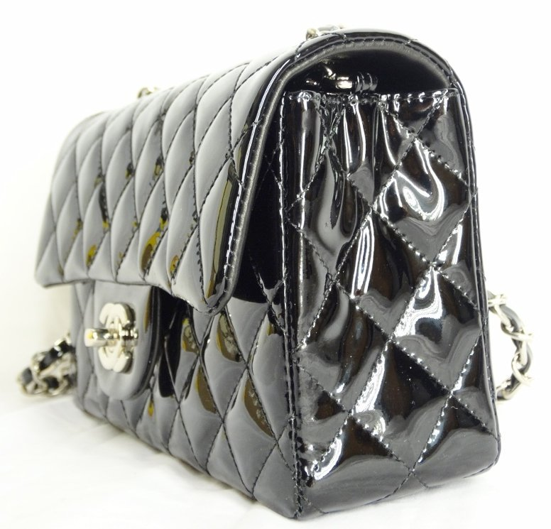 Chanel Black Patent Leather Runway Bag SOLD OUT - 4