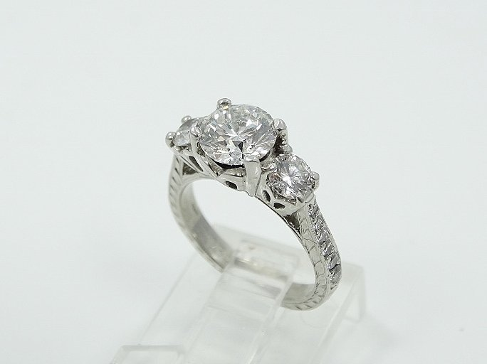 Michael Beaudry Plat. 1.60ctw Diamond Ring