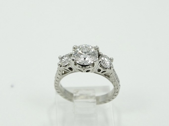 Michael Beaudry Plat. 1.60ctw Diamond Ring - 2