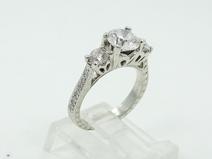 Michael Beaudry Plat. 1.60ctw Diamond Ring - 4