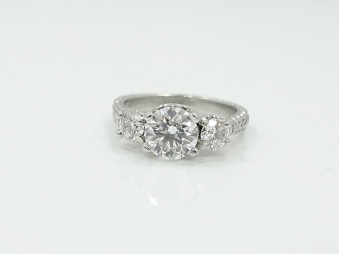 Michael Beaudry Plat. 1.60ctw Diamond Ring - 5