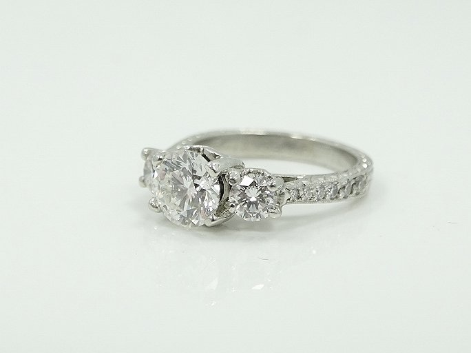 Michael Beaudry Plat. 1.60ctw Diamond Ring - 6