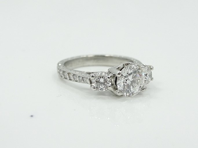 Michael Beaudry Plat. 1.60ctw Diamond Ring - 7