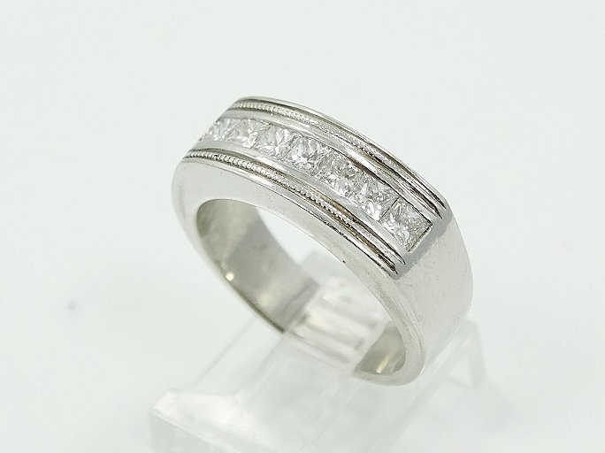 1.25CTW VS/F-G Diamond & Platinum Men's Ring
