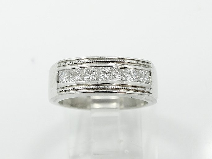 1.25CTW VS/F-G Diamond & Platinum Men's Ring - 2