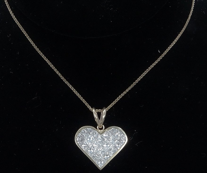 Milros 3.60ctw SI1-SI2/G-H Diamond 14K Necklace
