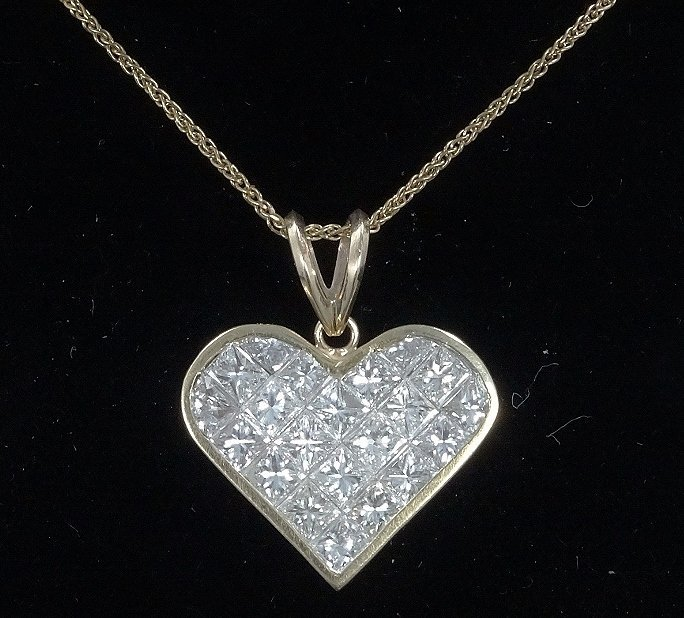 Milros 3.60ctw SI1-SI2/G-H Diamond 14K Necklace - 2