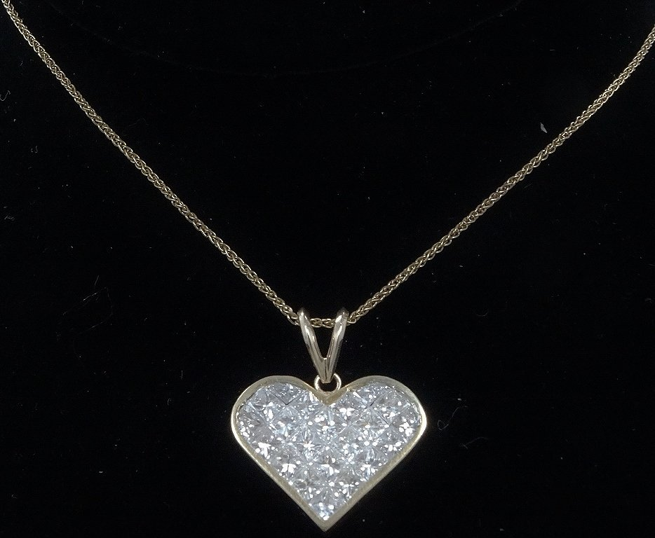 Milros 3.60ctw SI1-SI2/G-H Diamond 14K Necklace - 3