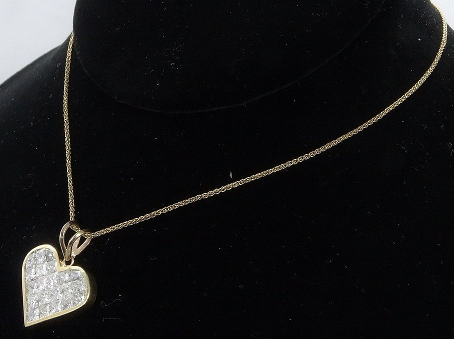 Milros 3.60ctw SI1-SI2/G-H Diamond 14K Necklace - 4