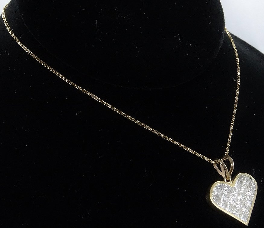 Milros 3.60ctw SI1-SI2/G-H Diamond 14K Necklace - 5