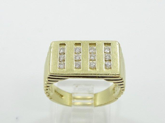 18K Men's Ring W/.60ctw SI1/G Diamonds Sz. 10 - 2