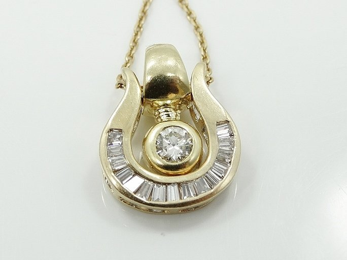 1ctw VS Diamond & 18K Dual Pendant Necklace - 6