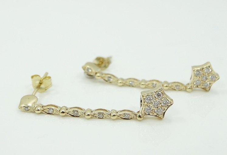 1/2ctw Diamond & 14K Earrings UNIQUE STYLE