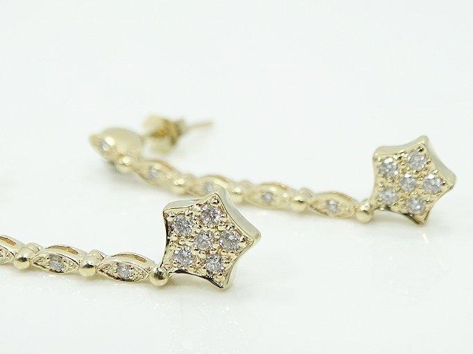 1/2ctw Diamond & 14K Earrings UNIQUE STYLE - 2