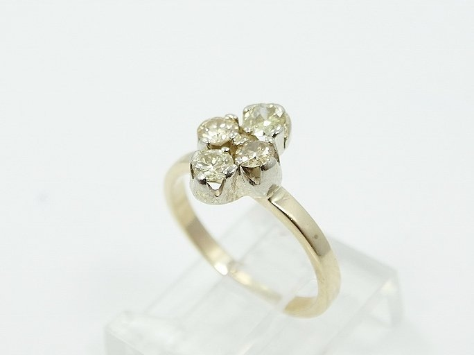 .80ctw SI1/H-J Diamond & 14K Child's Ring